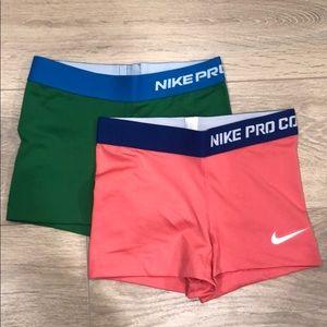 NWOT Bundle of Nike Pro Compression Shorts Size XS